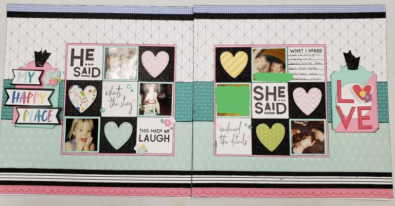 I Heart Us workshop Layout pages 7 and 8